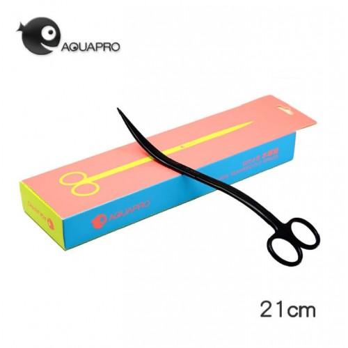 Ножницы aquapro волнистые 21 см, черные