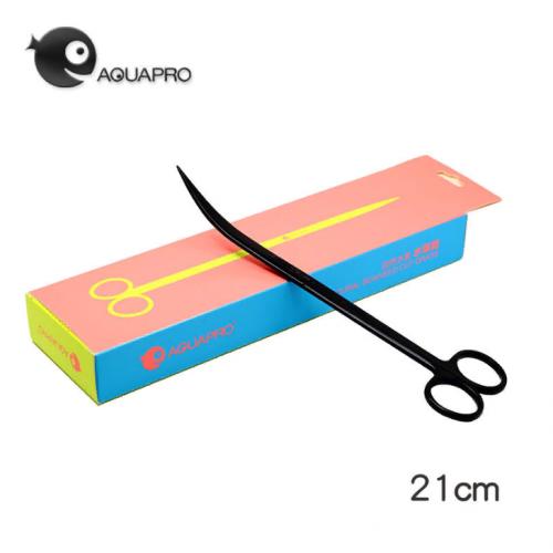 Ножницы aquapro изогнутые 21 см, черные