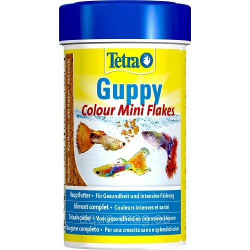 Tetra Guppy Colour Mini Flakes 100мл, Корм для рыб