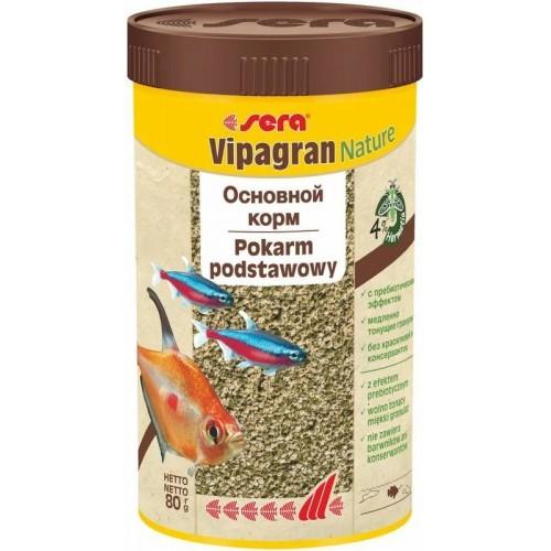 Sera Vipagran Корм для декоративных рыб, тонущие гранулы 250мл