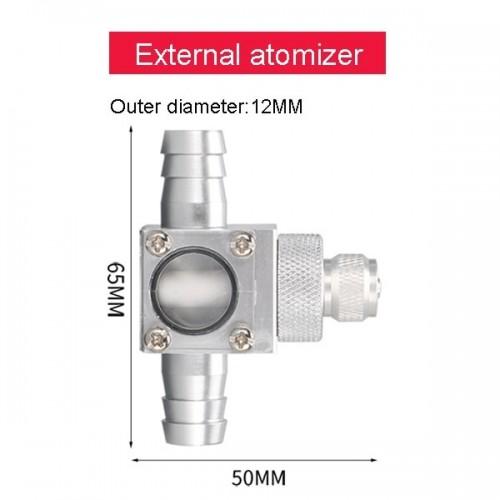 ZRDR CO2-диффузор атомайзер для подключения к внешнему фильтру с диаметром шланга 12/16 мм