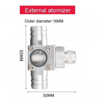 ZRDR CO2-диффузор атомайзер для подключения к внешнему фильтру с диаметром шланга 16/22 мм