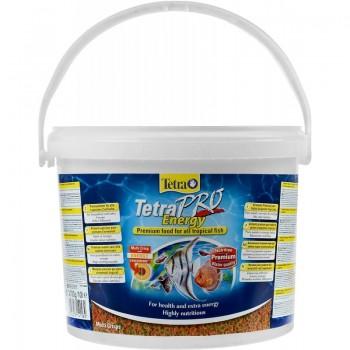 TetraPro Energy 10л (ведро) - высококачественный энергетический корм для всех видов рыб
