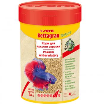 Sera Bettagran 100 мл (48 г) - гранулированный корм для рыб-петушков