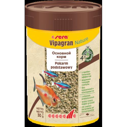 Sera Vipagran Корм для декоративных рыб, тонущие гранулы 100мл