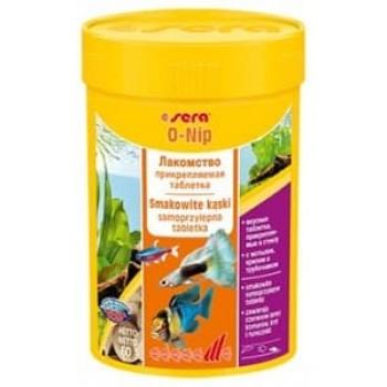Sera O-Nip 100 таблеток - корм для всех видов рыб, может быть приклеен к стеклу