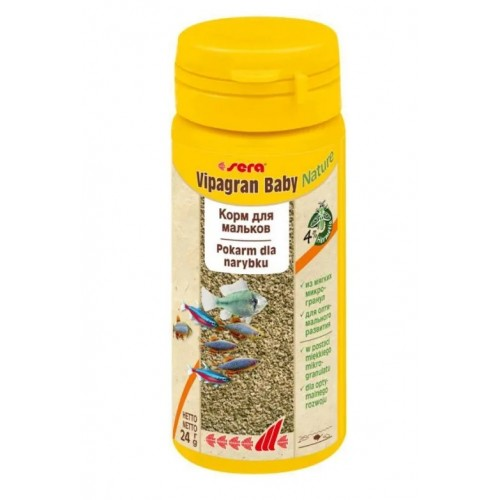 Sera Vipagran baby 50 мл- корм для мальков и маленьких рыбок (гранулы).