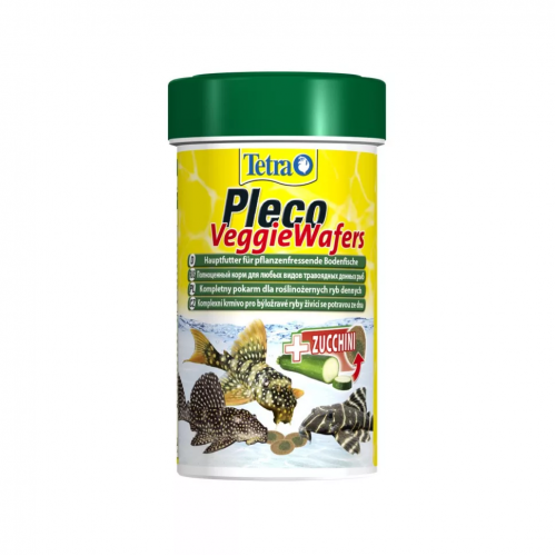 Tetra Pleco Veggie Wafers 100 мл - корм для травоядных донных рыб