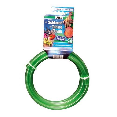 JBL Aquarium tubing GREEN 12/16 - Шланг для воды, прозрачный зеленый, 2,5 м, на подвесе