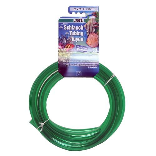 JBL Aquarium tubing GREEN 16/22 - Шланг для воды, прозрачный зеленый, 2,5 м, на подвесе