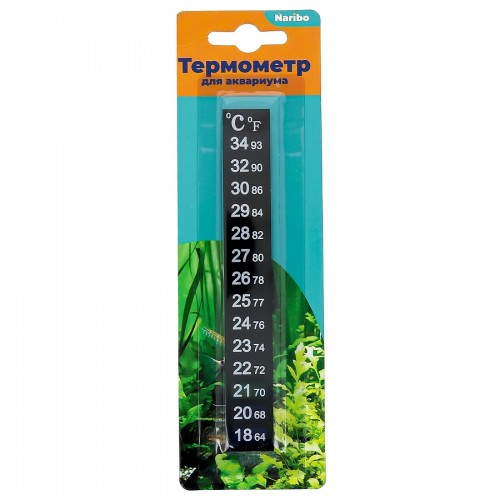 Термометр Naribo жидкокристаллический полоска 18-34С 13см