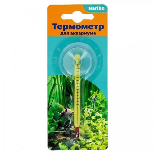 Термометр Naribo стеклянный тонкий на присоске 8см