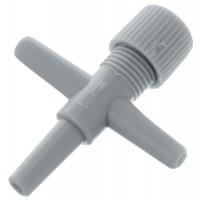 Краник-тройник для компрессорной трубки Barbus, диаметр 4 мм.