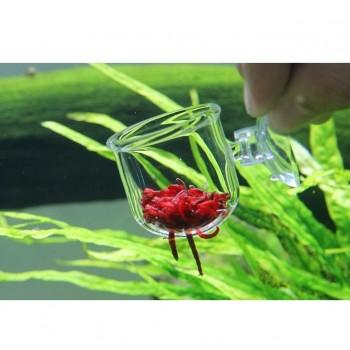 Кормушка для рыб стеклянная с прорезями 3,5