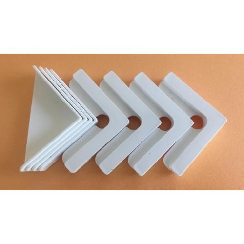 Комплект держателей нижнего и верхнего стекла аквариума (белые) 8 шт.