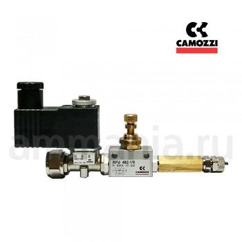 Сборка CAMOZZI СО2 + обратный клапан - кран RFO