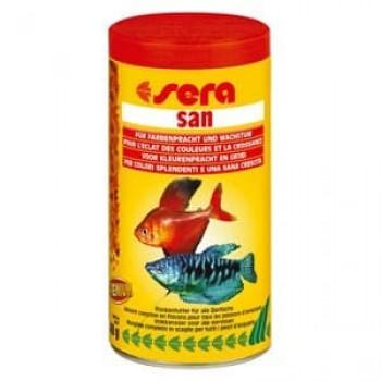 Sera San, 250 мл, (хлопья) премиум корм усиливающий интенсивность окраса