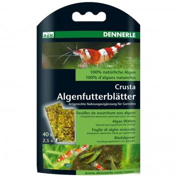 """Dennerle Algenfutterblatter  Корм из 100% натуральных водорослей в виде """"листков"""" в качестве добавки к корму для креветок"""