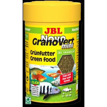 JBL NovoGranoVert mini Refill - Корм в зеленых мини-гранулах для маленьких аквариумных рыб, 100 мл. (35 г.)