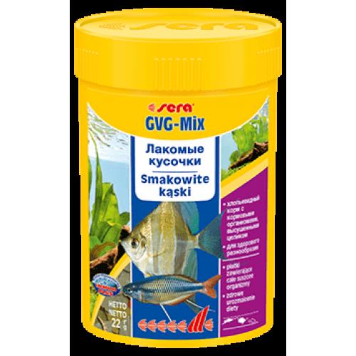 Sera GVG-mix 100мл Корм в виде хлопьев с добавками для всех видов рыб