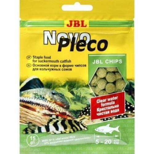 JBL NovoPleco - Основной корм для кольчужных сомов, тонущие чипсы, саше 15 г