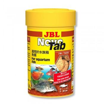 Корм для рыб JBL Novo Tab в форме таблеток для всех видов аквариумных рыб, 250мл.