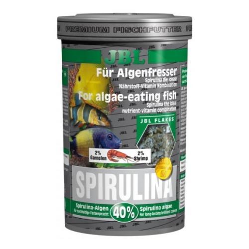 """JBL Spirulina - Корм """"премиум"""" в хлопьях со спирулиной для растительноядных в пресном и морском аквариуме 100мл (15г)"""