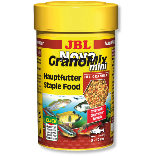 JBL NovoGranoMix mini - Основной корм для рыб, гранулы, 100 мл (42 г)