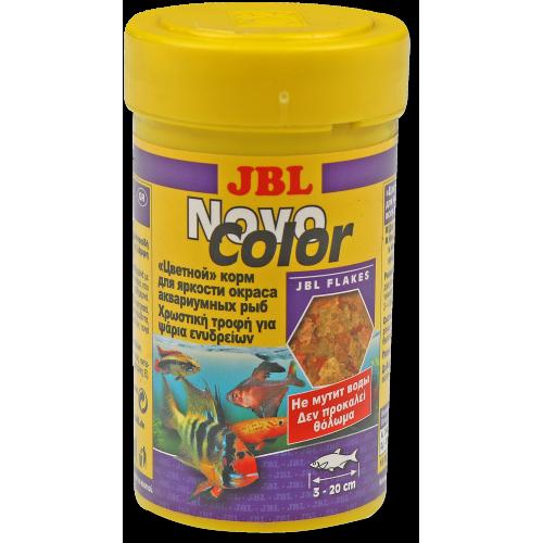 JBL NovoColor - Основной корм для яркой окраски, хлопья, 250 мл (45 г)