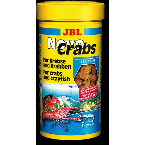 JBL NovoCrabs - Основной корм в форме тонущих чипсов для раков, 250 мл (125 г)