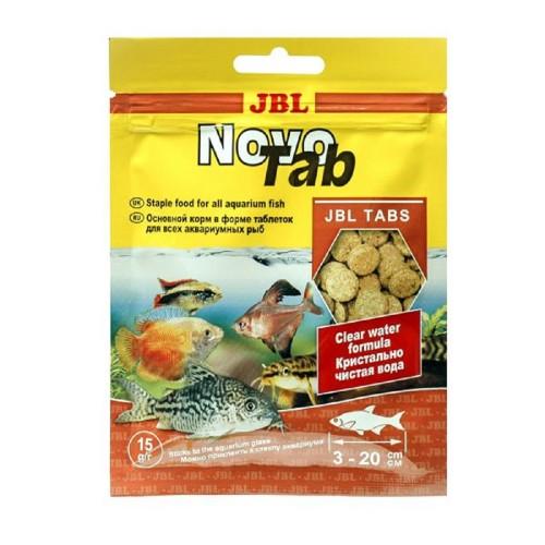 JBL NovoTab - Основной корм для пресноводных аквариумных рыб, таблетки, саше 15 г