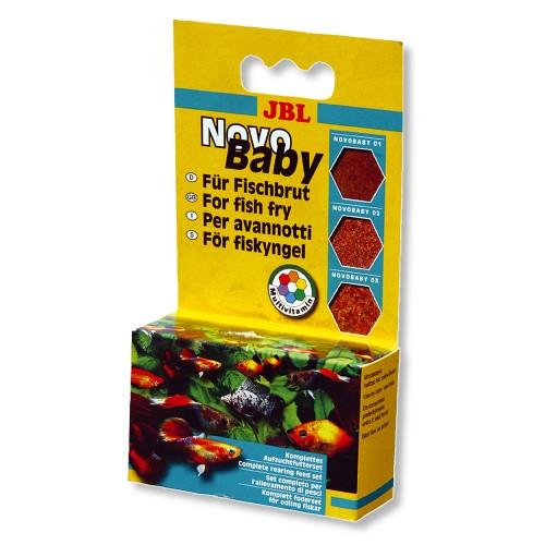 JBL NovoBaby - Комплект корма для мальков живородящих аквариумных рыб, 3x10 мл (18 г)
