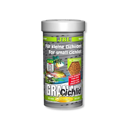 JBL GranaCichlid - Основной корм премиум для хищных цихлид, гранулы, 250 мл (110 г)