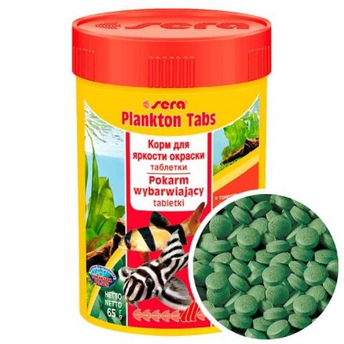 Sera Plankton Tabs 65 мл (275 таблеток) - корм для донных рыб с добавлением планктона