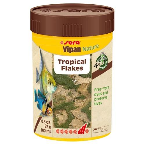 Sera VIPAN Nature хлопья 100мл,22г Корм для рыб