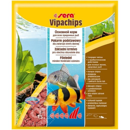 Sera VIPACHIPS 15 гр, корм для сомов и донных рыб