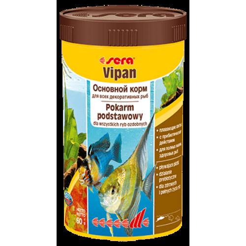 Sera VIPAN 250мл Корм в виде хлопьев для всех видов рыб