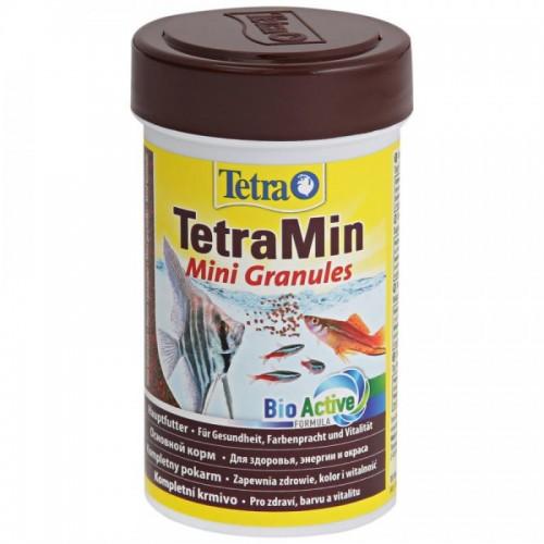 TetraMin Mini Granules 100мл - корм в маленьких гранулах для молоди рыб и рыб с маленьким ртом