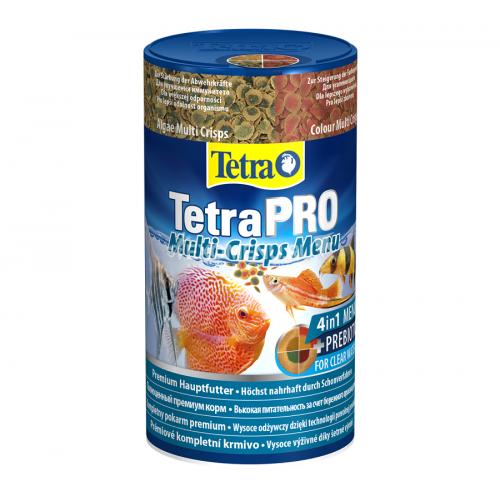 TetraPro Menu 250мл - корм-меню 4 вида разных чипсов в одной банке