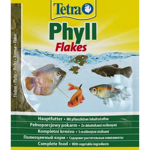 Tetra Phyll 12г пакет хлопья растительные, Корм для рыб