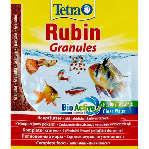 TetraRubin Granules Sachet гранулы, пакет 15гр, Корм для рыб для любых видов тропических рыб