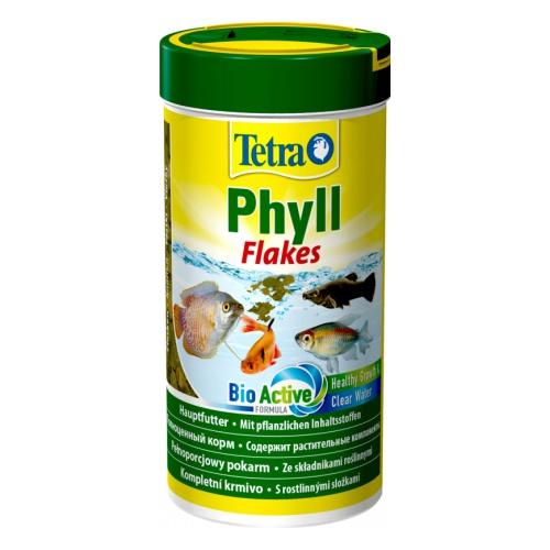 Tetra Phyll 250мл хлопья растительные, Корм для рыб
