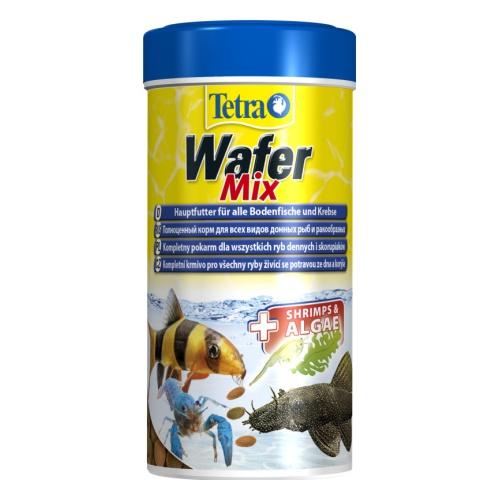 """Tetra """"TetraWafer Mix"""" Корм для всех видов донных рыб и ракообразных, пластинки, 250 мл"""
