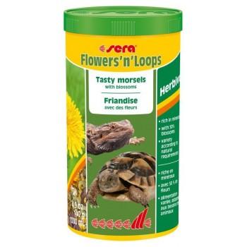 Sera Flowers'n'Loops (цветы и колечки) 1000 мл - корм-деликатес для травоядных рептилий