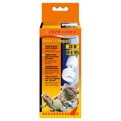 Sera reptil desert compact UV-B 10% 20w - лампа для террариума