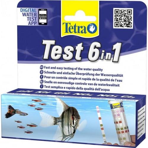 Тetra 6 В 1 Тест для пресной воды GH/KH/NO2/NO3/PH/CL (25 Полосок)