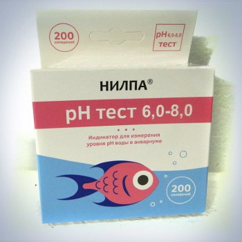 """Тест НИЛПА Ph 6,0-8,0"""" - тест  для измерения уровня кислотности воды"""
