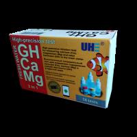 UHE GH & Ca & Mg test - тест 3 в 1 определения жесткости (GH), солей кальция (Ca), магния (Mg) в воде