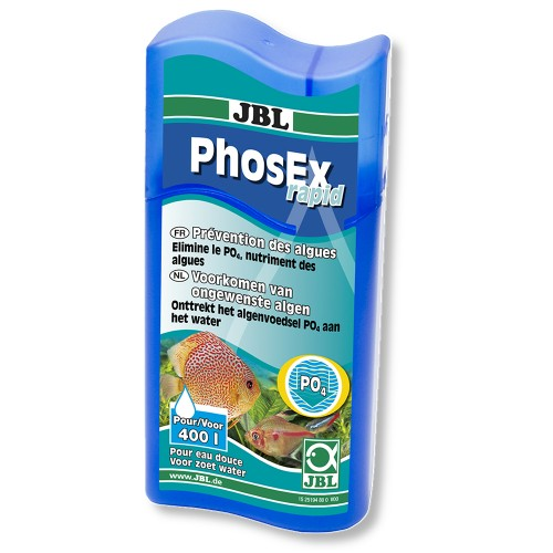 JBL PhosEx rapid - Препарат для удаления фосфатов из пресной воды, 100 мл, на 400 л