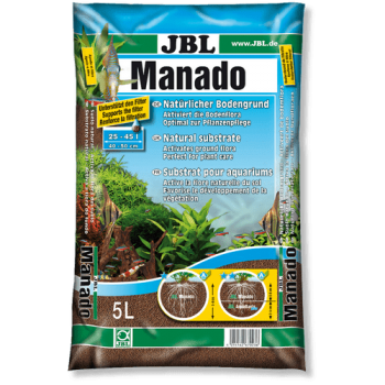 JBL Manado 5l - Питательный грунт, красно-коричневый (цвет латеритной почвы), 5 литров.